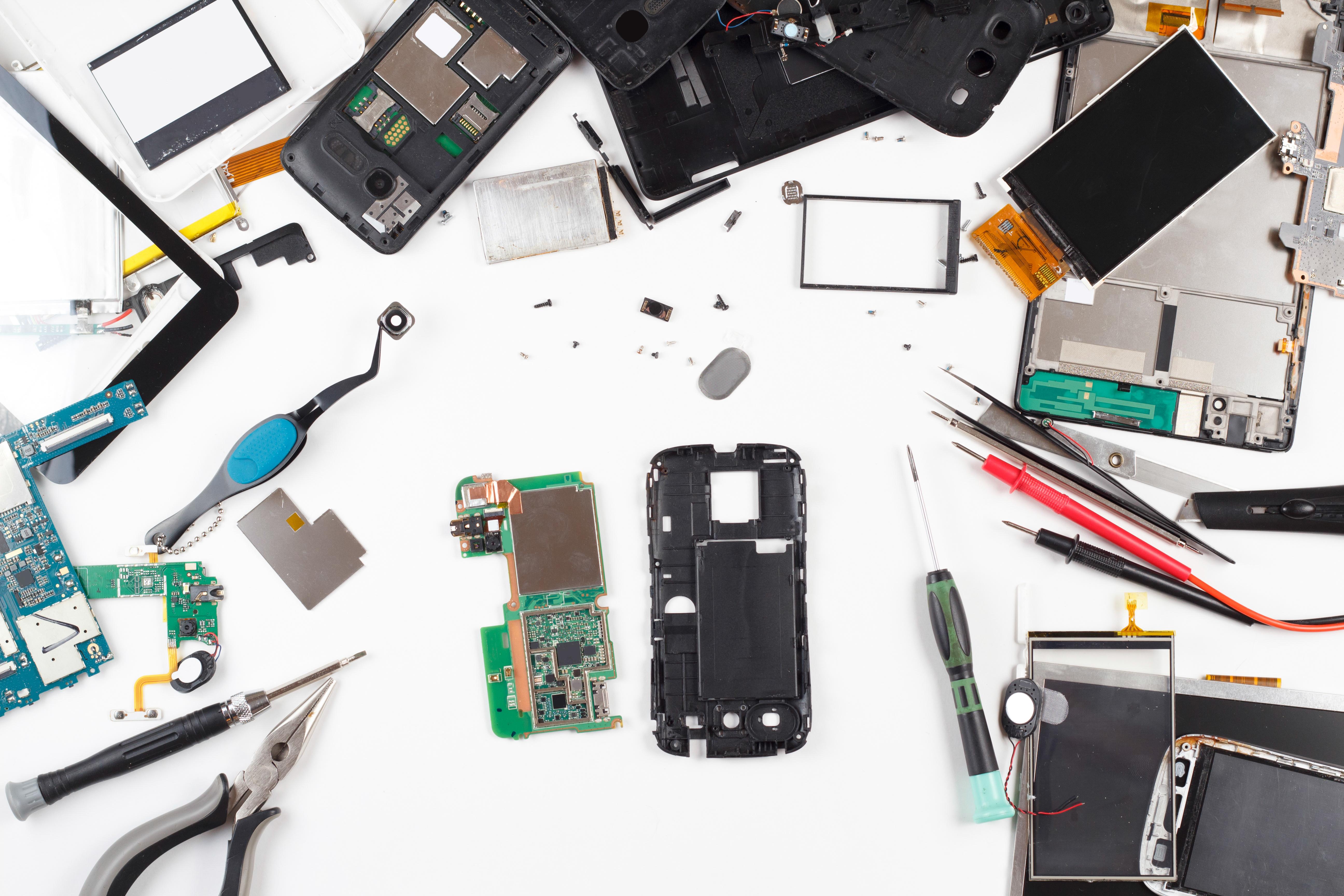 phone repair top view